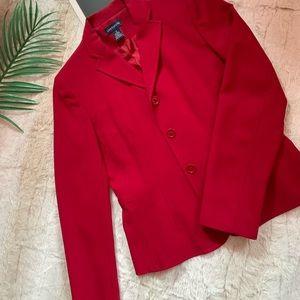 Ann Taylor Red Four Button Blazer - size 0